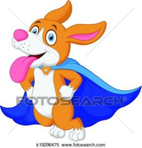 287x300 Flying Dog Clipart Clipart Of Cartoon Super Hero Dog Flying