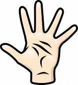 157x170 Five Clipart Hand