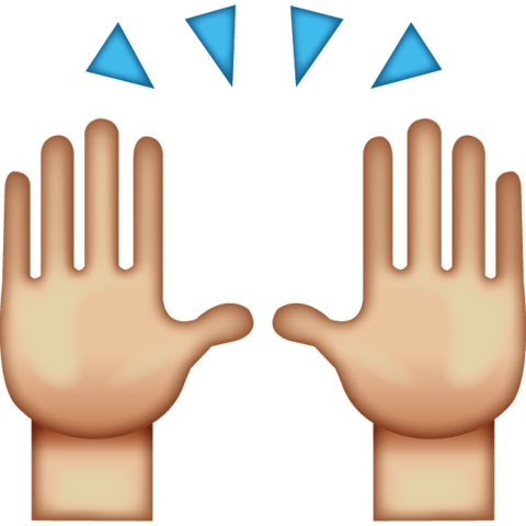 480x480 Hi Five Emoji Transparent Png
