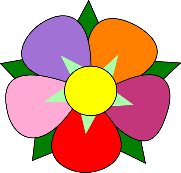 600x571 Collection Of Five Petal Flower Clipart High Quality, Free