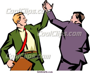 300x243 Men Giving Each Other A High Five Clip Art