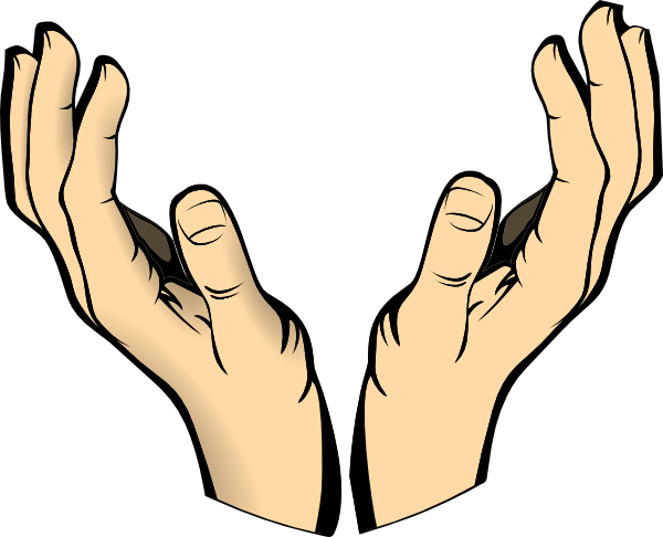 600x486 Raised Hands Clip Art