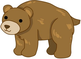 340x247 Hibernating Bear Clip Art. Hibernating Bear Clipart