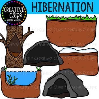 350x350 Hibernation Clipart {Creative Clips Clipart} By Krista Wallden
