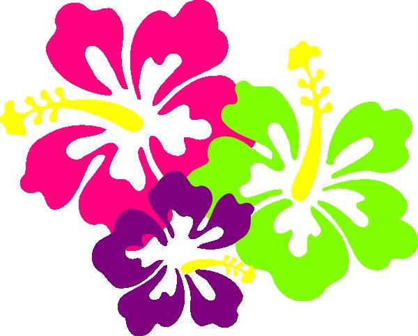 600x482 Neon Flower Clipart