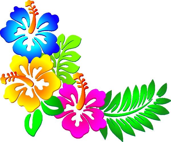 600x500 Flower Corner Border Clipart Free Hibiscus Corner 2 Clip Art