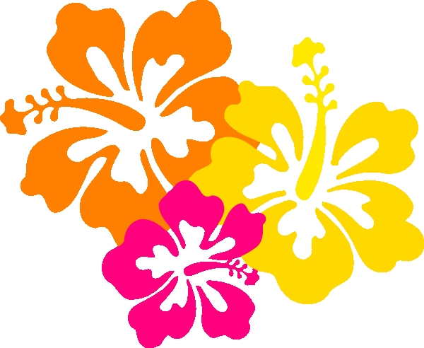600x492 4 Flowers Clipart Hibiscus Flowers 4 Grouped Clip Art At Clker