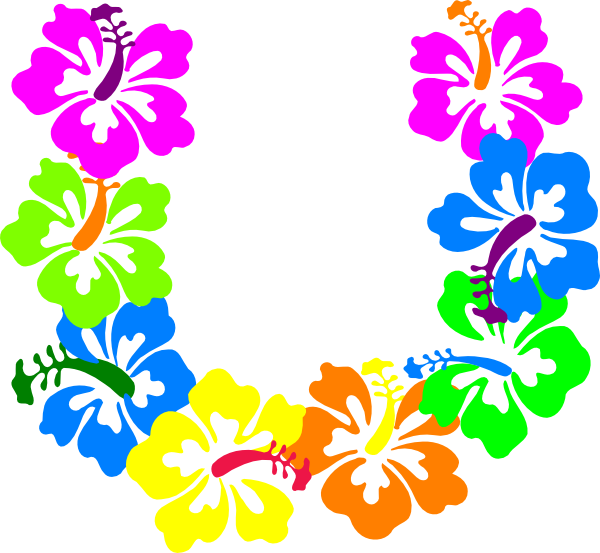 600x553 Hibiscus Flowers Clip Art