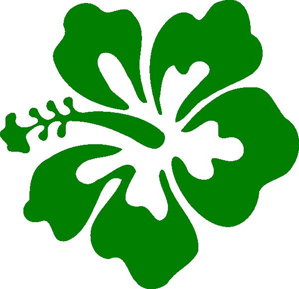 600x579 Hibiscus Green Clip Art