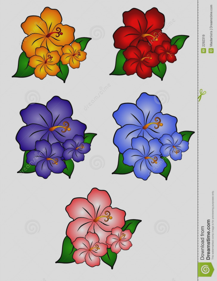 728x940 Awesome Of Hawaiian Flowers Clip Art Flower Clipart