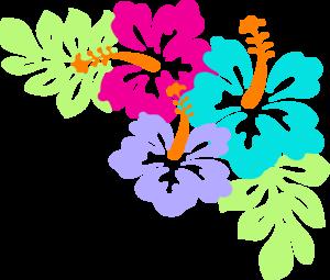 300x255 Hibiscus Corner Clip Art
