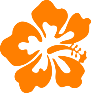 291x299 Orange Hawaiian Flower Clipart