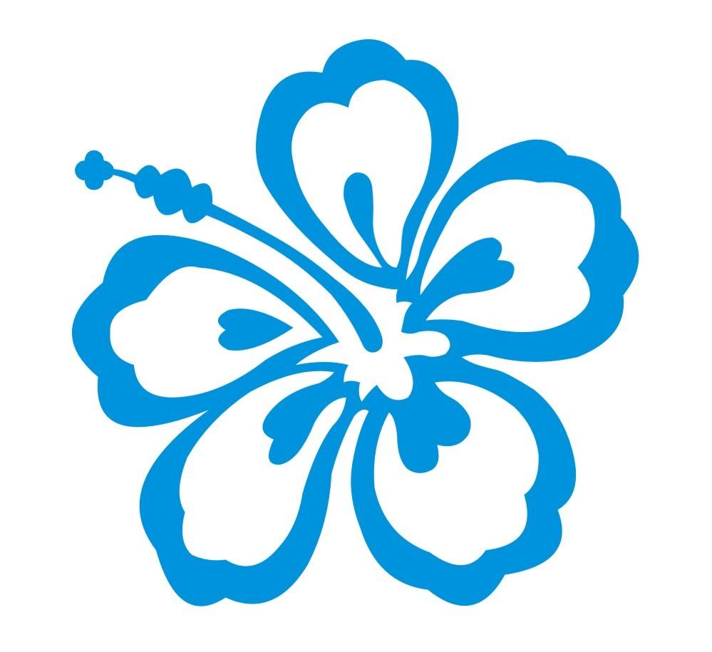 999x915 Blue Hawaiian Flowers Clip Art