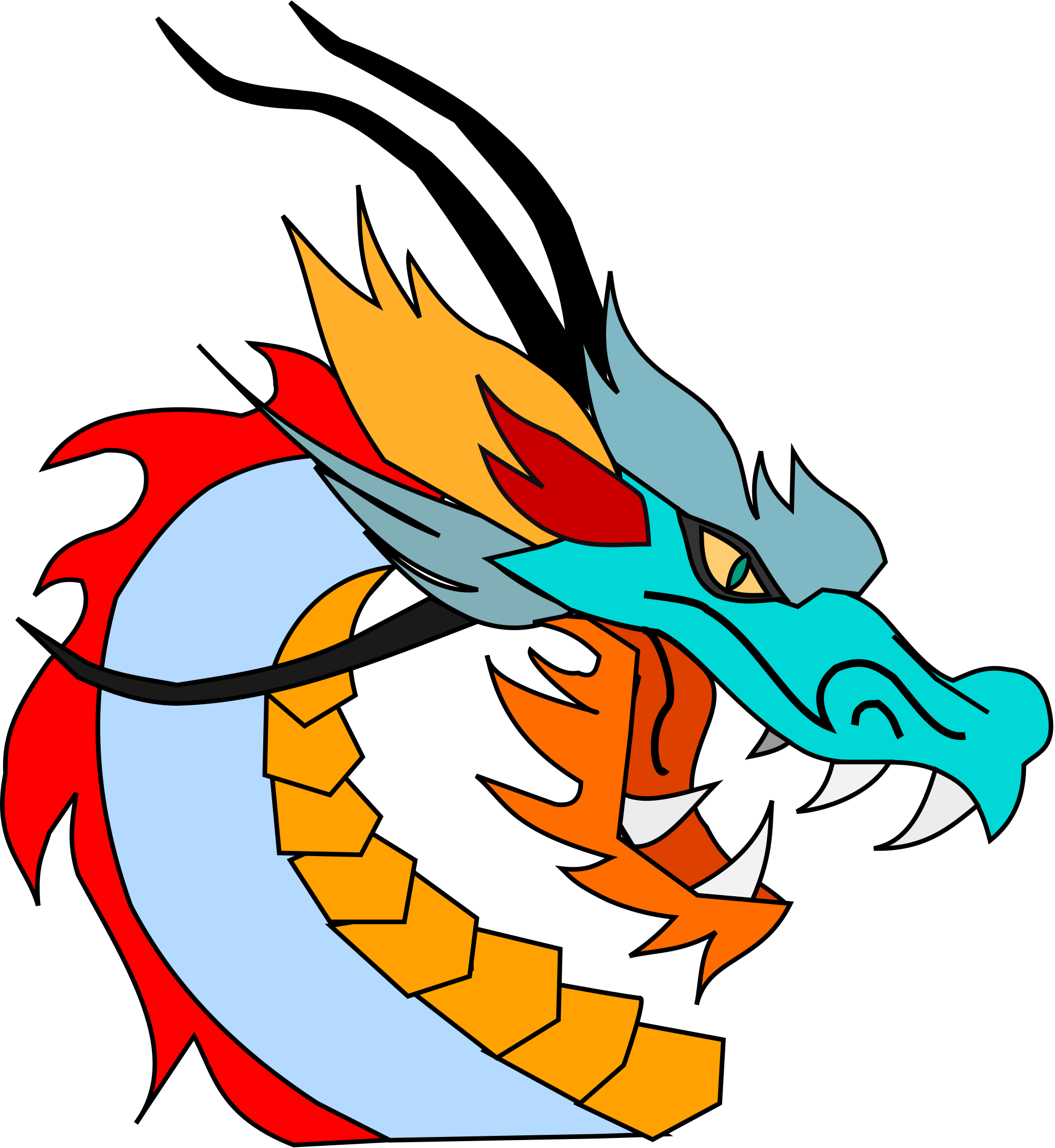 2000x2175 Filedragon Clip Art.svg