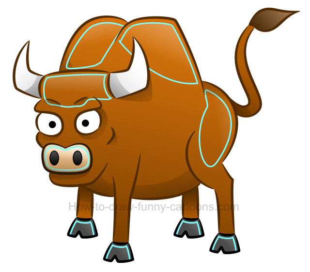 640x562 How To Draw A Bull Clip Art