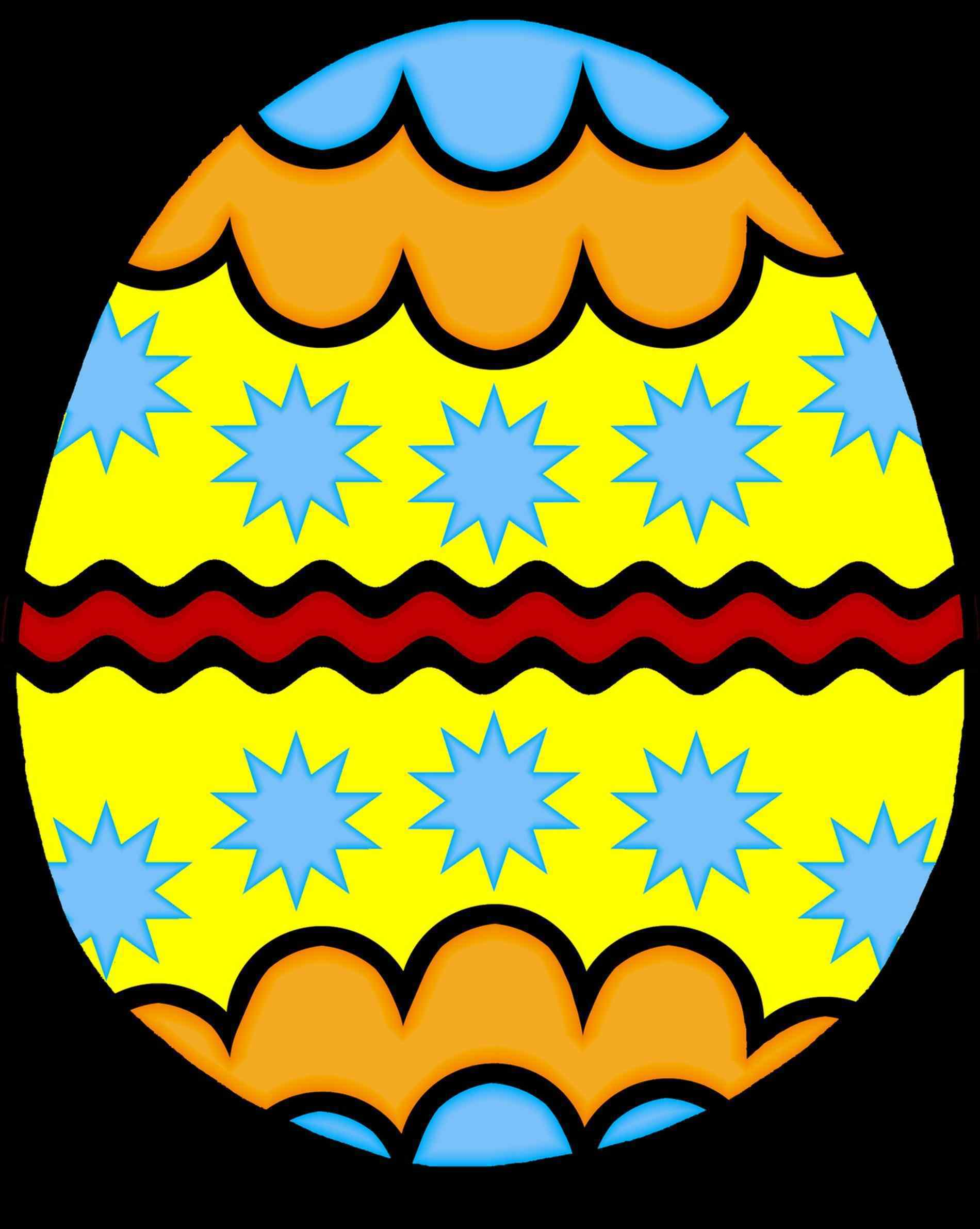 1900x2382 High Quality Free Clip Art Colorful Decorated S Colorful Easter