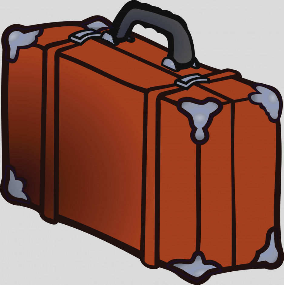 937x940 Awesome Of Suitcase Clip Art Brown Clipart Image Gallery