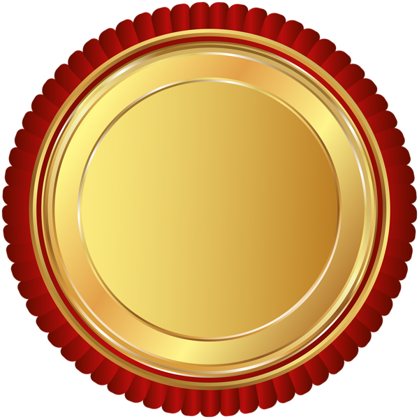 600x600 Gold Red Seal Badge Png Clip Art Imageu200b Gallery Yopriceville