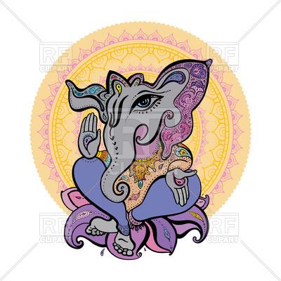 400x400 Hindu God Ganesh Royalty Free Vector Clip Art Image