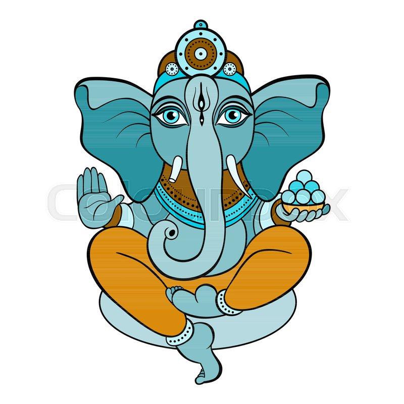 800x800 Hindu God Ganesha. Ganapati. Vector Hand Drawn Illustration