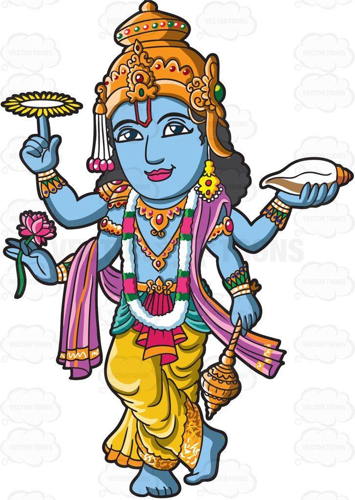 726x1024 The Hindu God Vishnu Cartoon, Hindu Deities And Deities