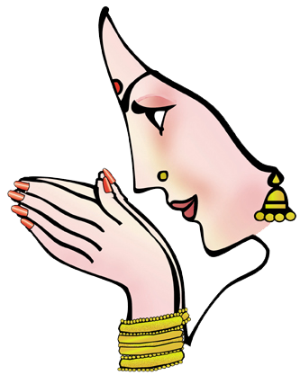 333x417 Bride Clipart Indian Welcome