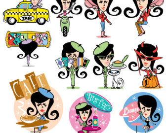 340x270 Mom Clipart Clip Art Hip Trendy Fashion Girl Mother Sports