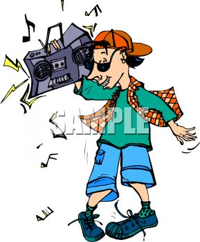 289x350 Hip Hop Kid With A Boombox On His Shoulder