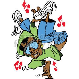 300x300 Royalty Free Cartoon Hip Hop Dancer Character 387813 Vector Clip