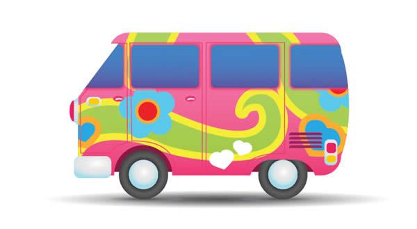 600x329 Hippie Bus Clip Art Cliparts Suggest Vectors