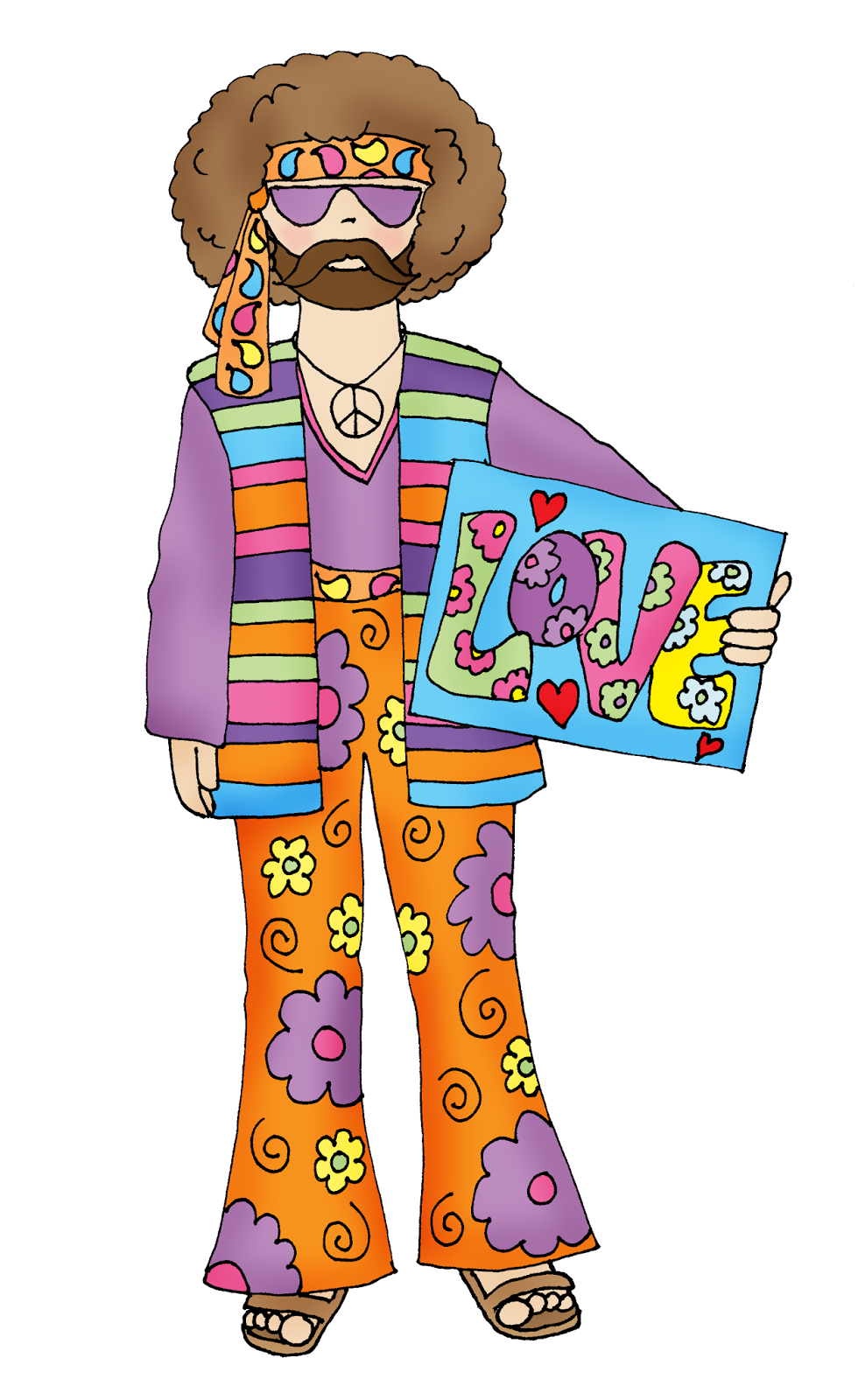 980x1600 Free Dearie Dolls Digi Stamps Hippie Dude Peace Out