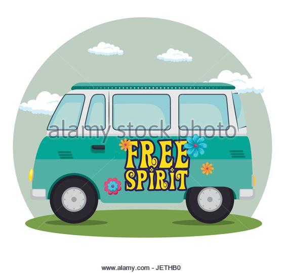 563x540 Hippie Van Cartoon Illustration Stock Photos Amp Hippie Van Cartoon