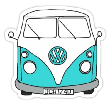 375x360 Hippie Van Stickers By Lbramble15 Redbubble