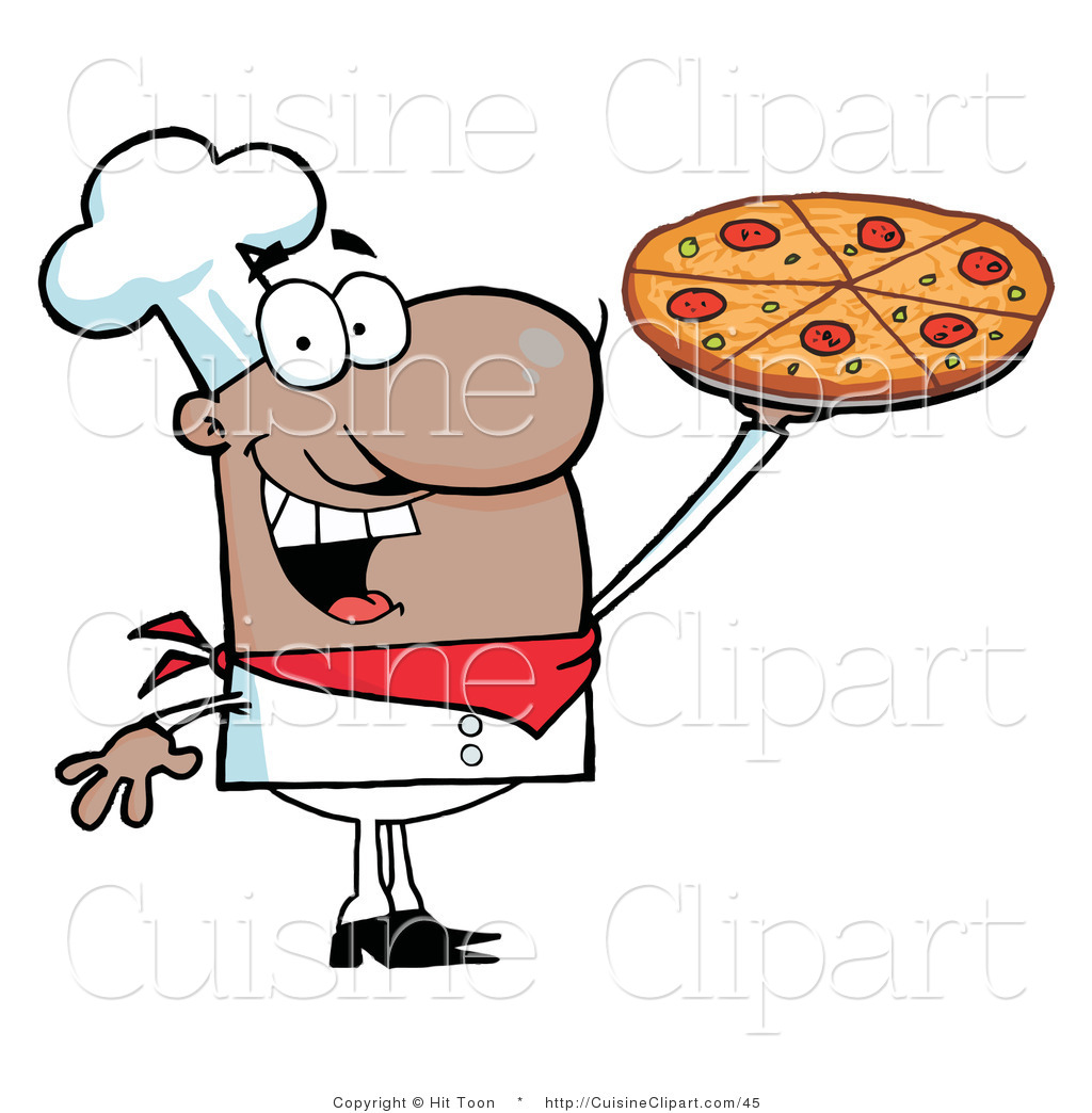 1024x1044 Cuisine Clipart Of A Happy Hispanic Chef Holding Up His Pizza Pie