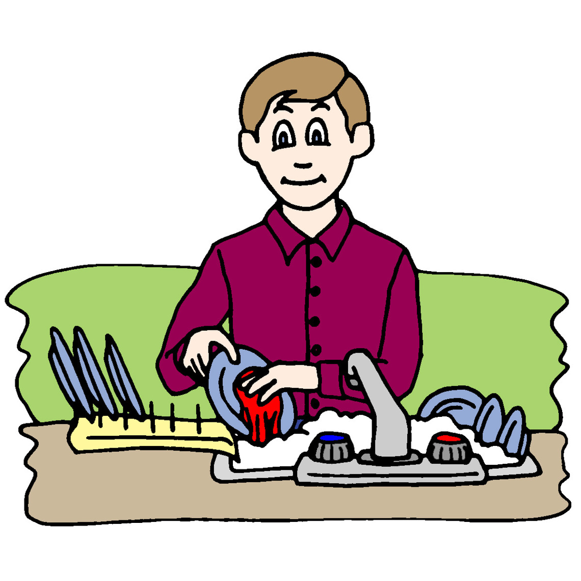 1140x1140 Hispanic Boy Doing Chores Clipart