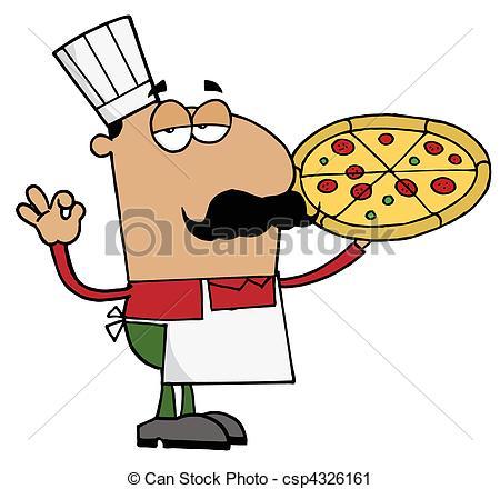 450x440 Hispanic Pizza Chef Man Pleased Male Hispanic Pizza Chef