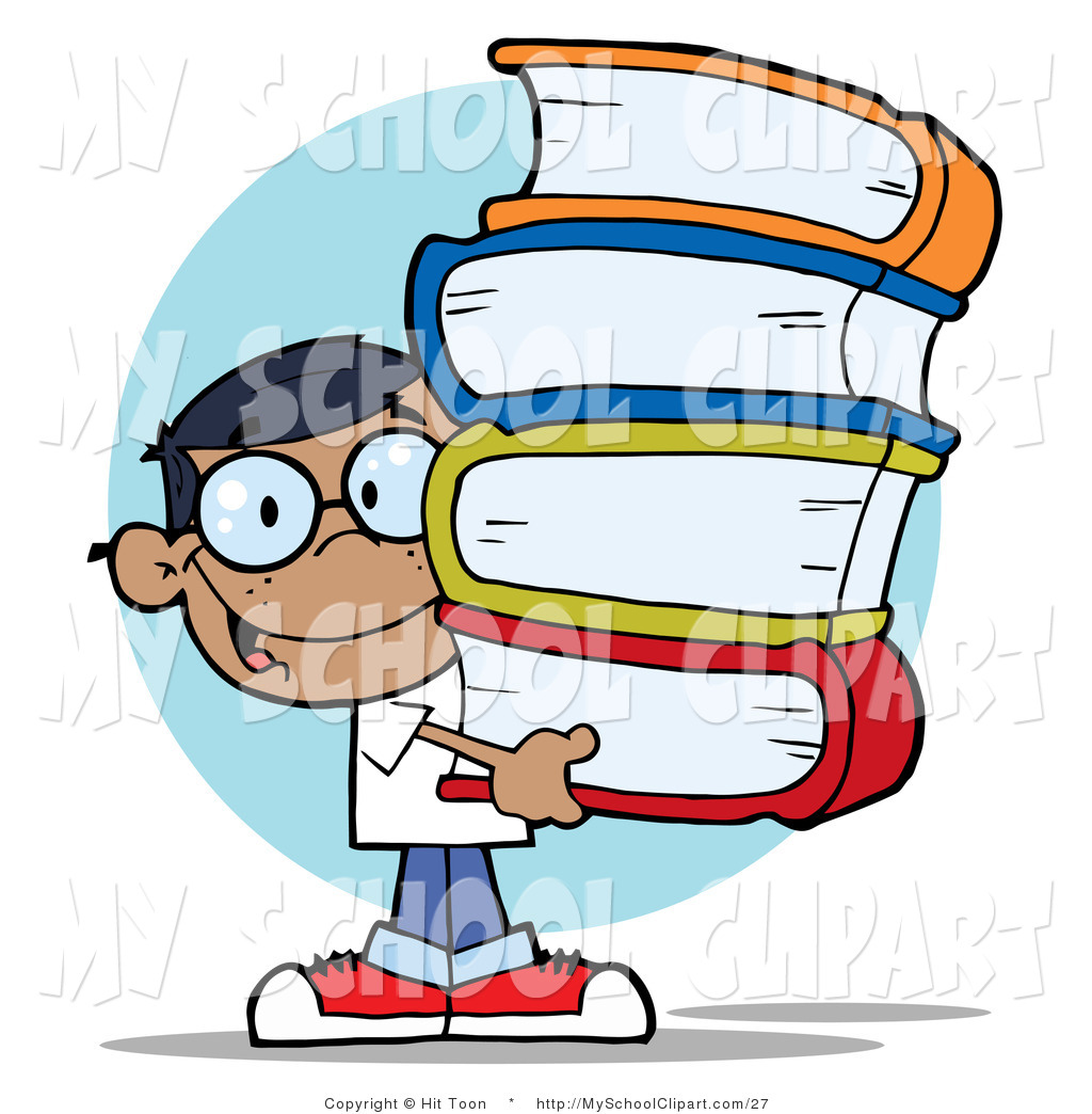 1024x1044 Clip Art Of A Hispanic Boy Carrying School Books By Hit Toon