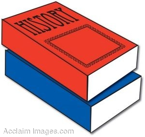300x282 Clipart Illustration Of History Text Books