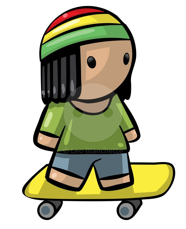 649x800 Clipart Illustration Youthful Skater Girl With Red, Gold, Black