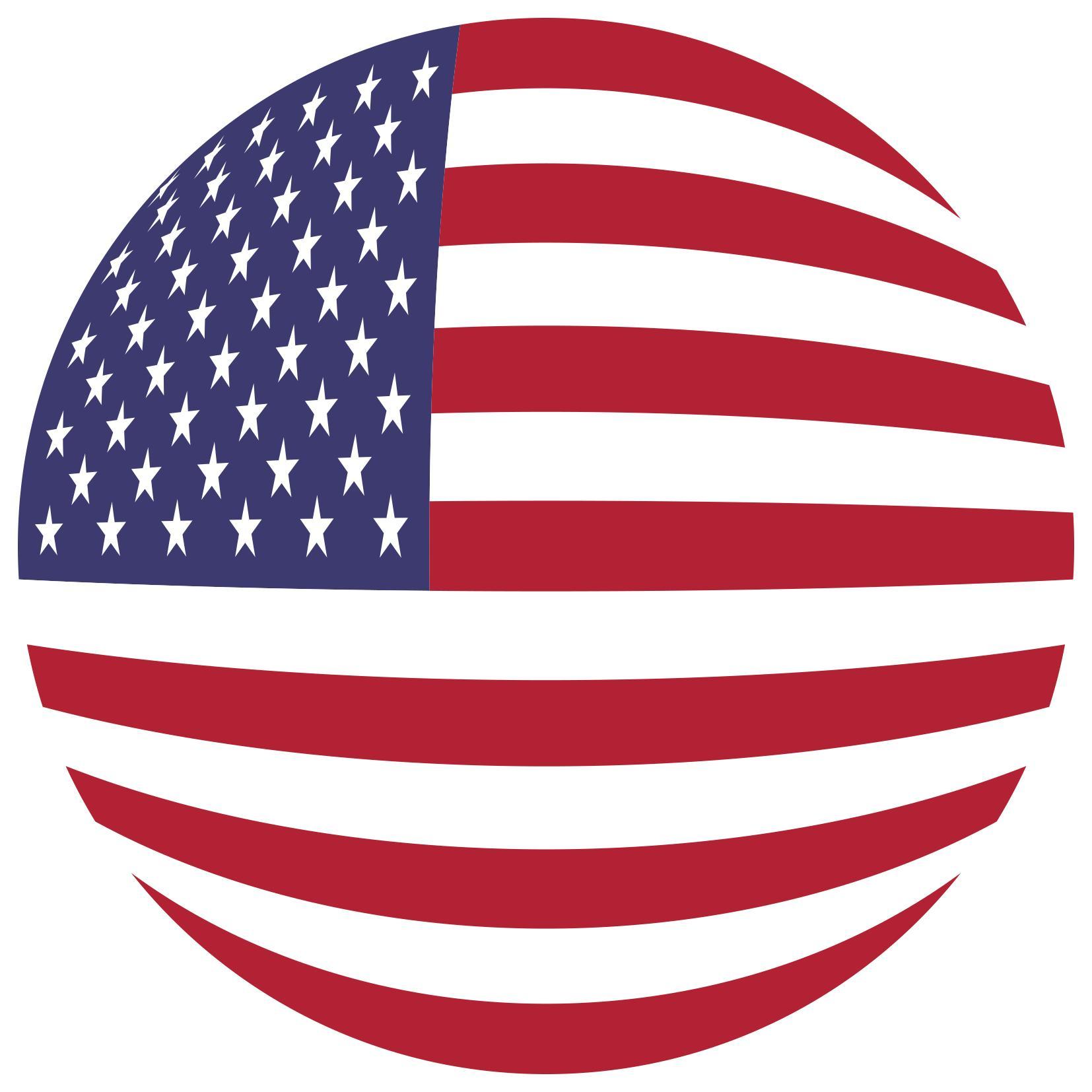 1654x1654 American Flag Orb Clipart