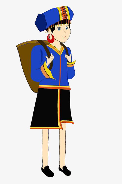 500x750 Cartoon Hmong Girl, Cartoon, Miao, Girl Png Image And Clipart