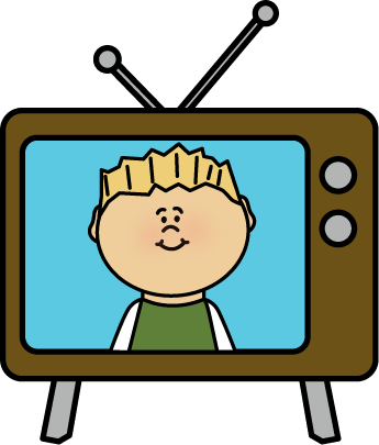 345x405 Clip Art Television Viewing Cliparts