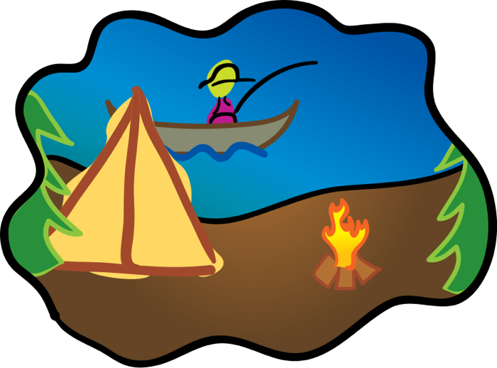 700x518 Camping Clipart