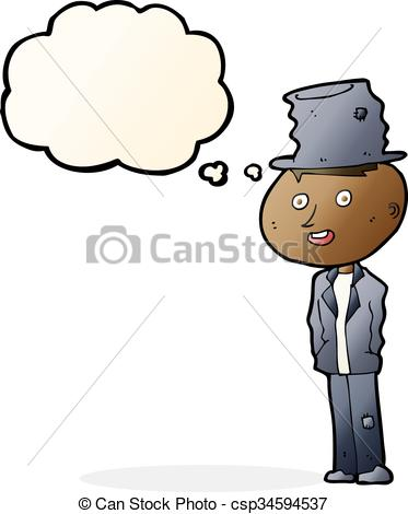 373x470 Cartoon Funny Hobo Man With Thought Bubble Vectors
