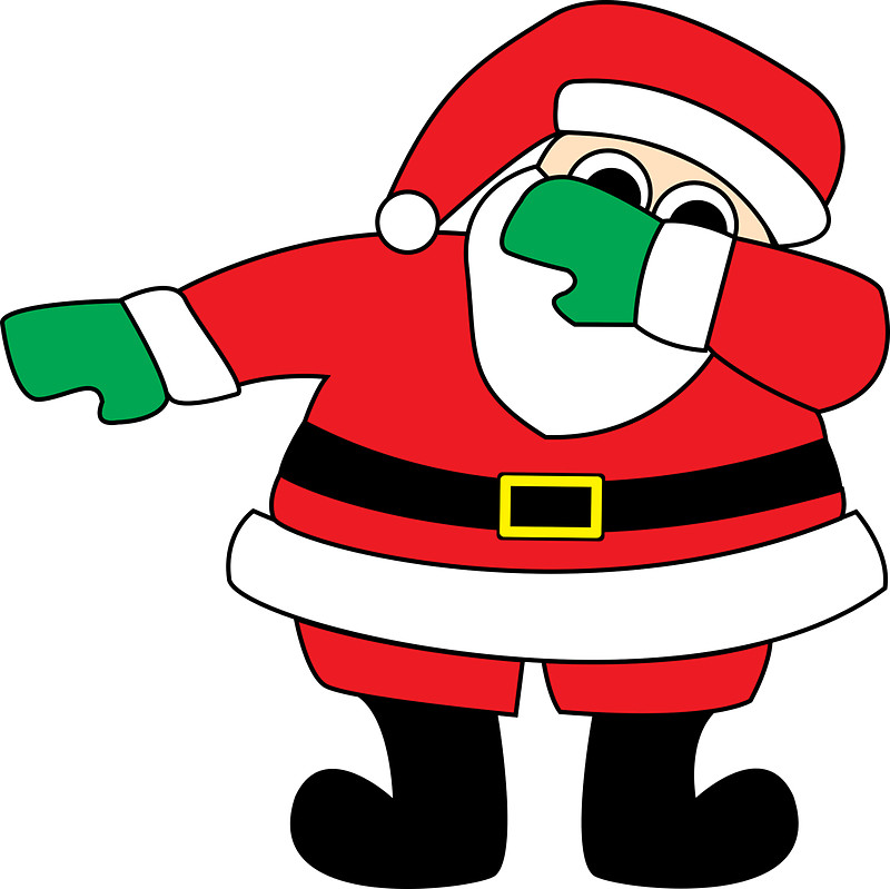 800x799 Collection Of Dabbing Santa Clipart High Quality, Free
