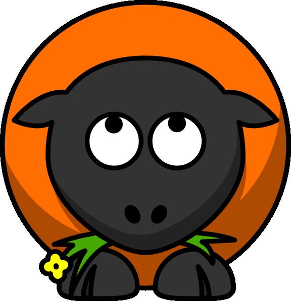 576x597 Orange Cartoon Sheep Looking Up Clip Art