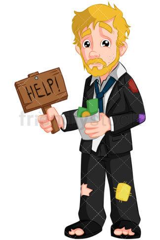 324x486 Bankrupt Business Man Empty Wallet Vector Cartoon Clipart