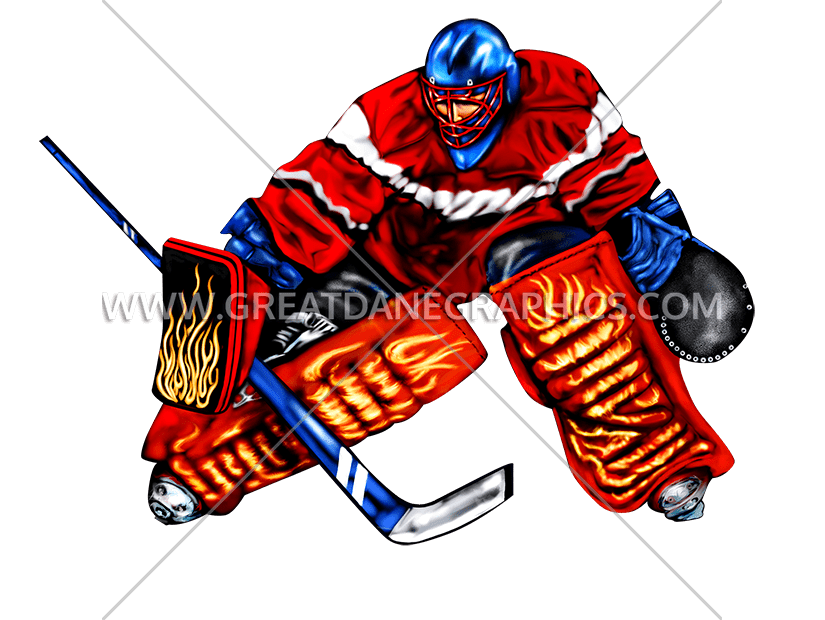 825x620 Hockey Goalie Block Production Ready Artwork For T Shirt Printing