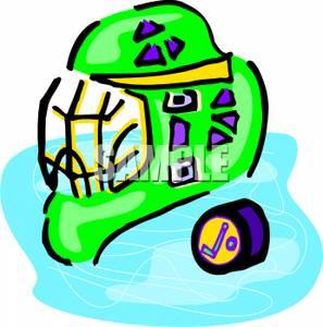 297x300 Art Image A Hockey Helmet And A Puck