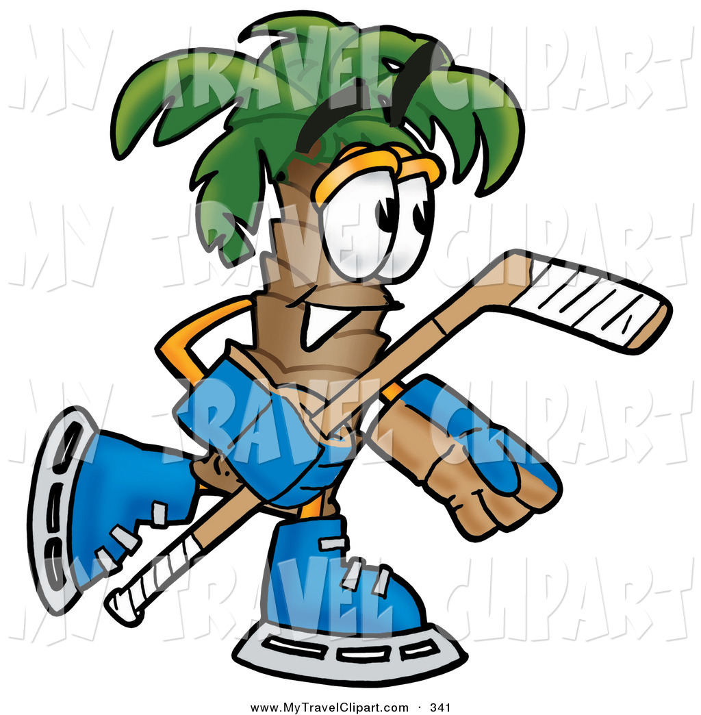 1024x1044 Clipart Of An Athletic Palm Tree Mascot Cartoon Character Playing